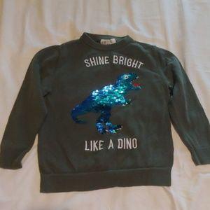 Reversible Sequin Dinosaur Sweater